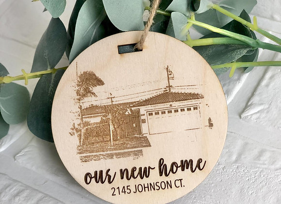 First Home Ornament, 2020 ornament, homeowner Christmas ornament, Custom Christm