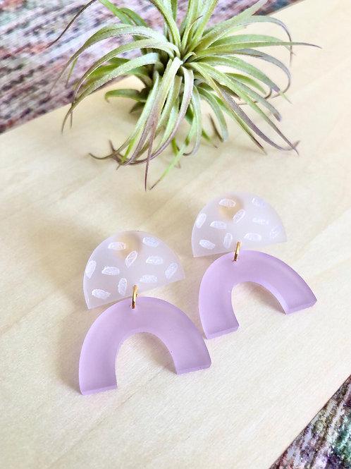 Purple Arch Earrings