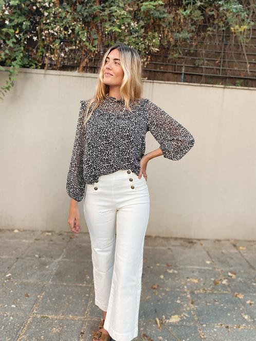 Pantalón botones blanco