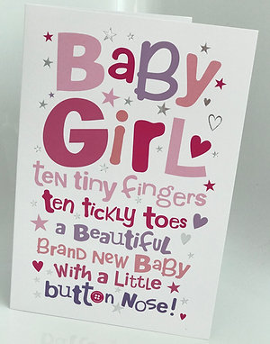 New Arrival Baby Girl Card