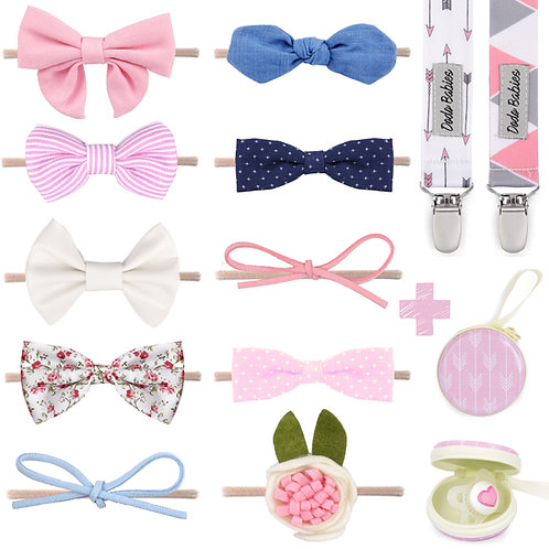 Baby Girl Headbands and Bows, for Infant Newborn and Toddler