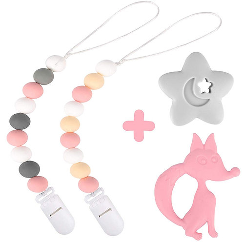 Silicone Pacifier Clip by Dodo Babies Pack of 2