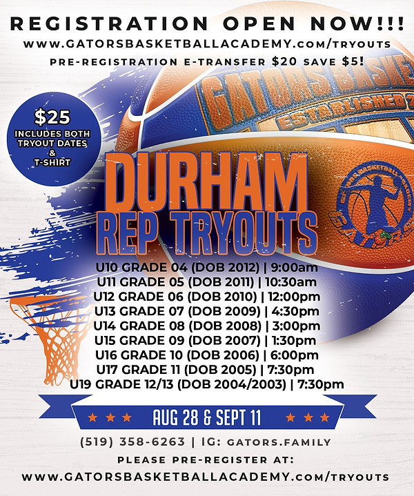 DURHAM REP TRYOUTS