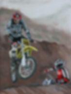 Darren's dirt bike race in a southern Wyoming dust storm.