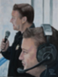Kevin McGlue broadcasting for Colorado Eagles of the AHL.