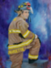 Ex hockey player Donnie Margettie becomes a firefighter.