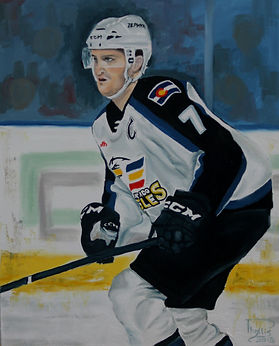 Mark Alt, Colorado Eagles Captain on power play.