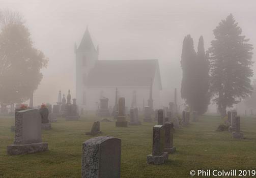 Old Church in the Fog