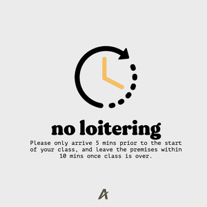No loitering before/after class