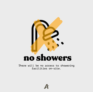 No showering on-site