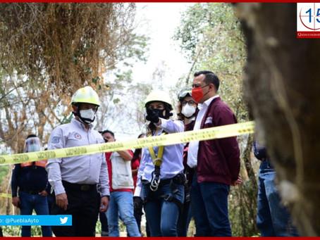 Continúan acciones preventivas ante temporada de lluvias en Puebla