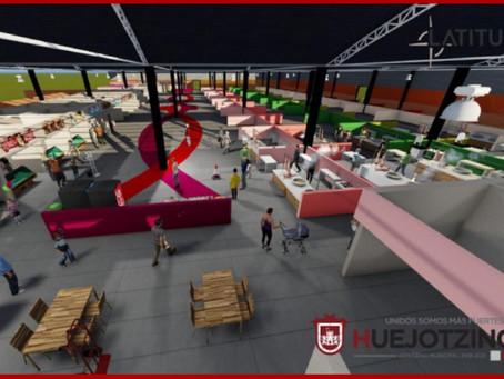 Presenta Alvarado remodelación del mercado de Huejotzingo