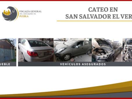 Asegura FGE inmueble en El Verde con vehículos robados