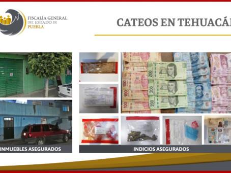 Caen cuatro con más de 100 dosis de droga en Puebla