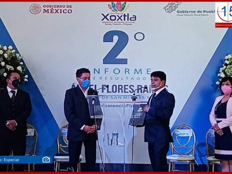 Destaca Ángel Flores obra pública en Xoxtla