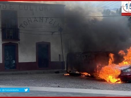 Casi linchan a policías en Santa María Tonantzintla