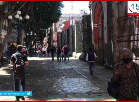 Registra Puebla disminución en contagios y decesos por Covid-19