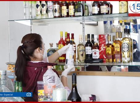 Decomisan presunto alcohol adulterado en El Seco