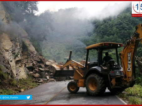 Cuatro municipios poblanos reportaron afectaciones por lluvias