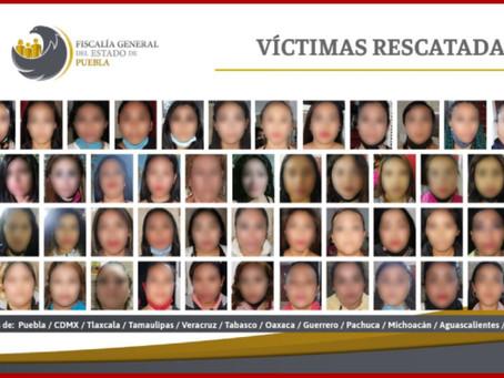 Rescatan en Puebla a 74 víctimas de explotación sexual