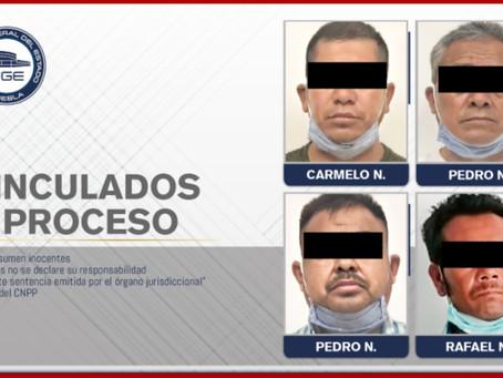 Vinculan a cuatro por linchamiento en Los Ángeles Tetela
