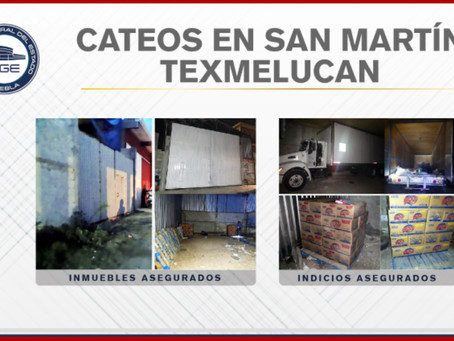 En Texmelucan, FGE recuperó un camión y 900 bolsas de detergente