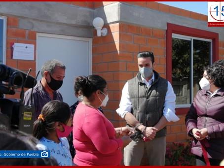 Entrega Gobierno del Estado viviendas en San Andrés Cholula