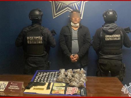 Captura Policía Estatal a presunto sicario en Tecamachalco