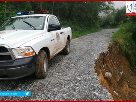 Atienden afectaciones por lluvias en municipios poblanos