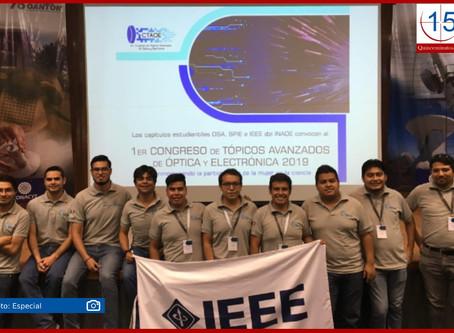 Convocan al segundo Congreso de Tópicos Avanzados de Óptica y Electrónica