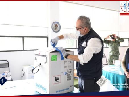 Recibe Puebla segundo embarque de vacunas contra Covid-19