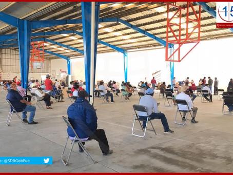Entrega SDR indemnización a productores afectados por granizo en Tecamachalco