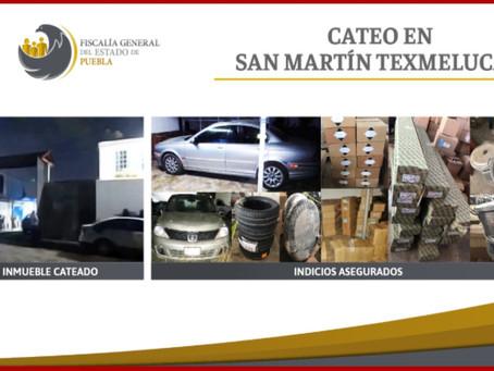 Aseguran mercancía robada en Texmelucan