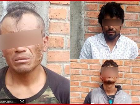En flagrancia, SSP detiene a tres presuntos ladrones de casa habitación