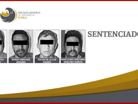 Cuatro sentenciados por robo de mercancía a tren en Soltepec