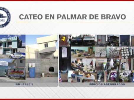Catea Fiscalía dos inmuebles en Palmar de Bravo