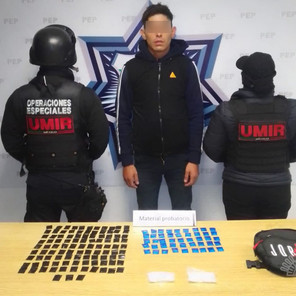 Lo detienen en Cuautlancingo con 300 dosis de droga