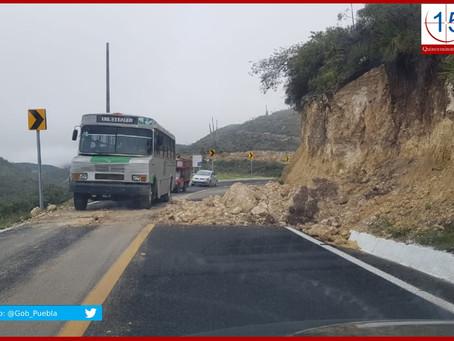 Lluvias dejan afectaciones en 30 municipios poblanos