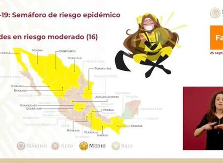 Puebla alcanza el semáforo Amarillo de Covid-19
