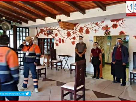 Supervisa PC de Tecamachalco medidas sanitarias