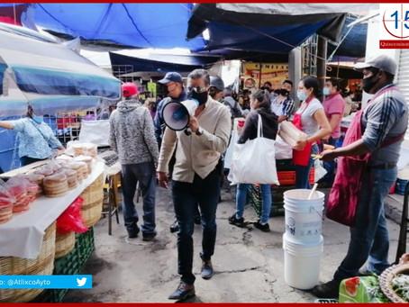 Establece Atlixco regularización para ambulantes en calles del tianguis