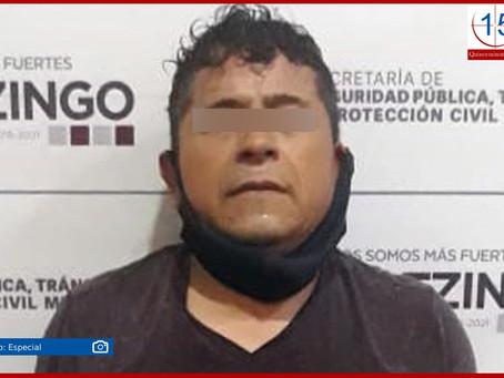 Frustran policías de Huejotzingo robo a casa habitación; hay un detenido