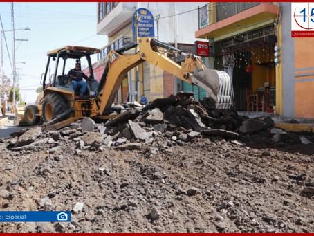Arrancan obras de rehabilitación en vialidades de Huejotzingo