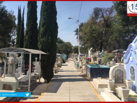Panteones de Atlixco permitirán ingreso en Día de Muertos