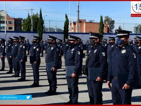Egresan 92 nuevos policías de la Academia municipal de Puebla