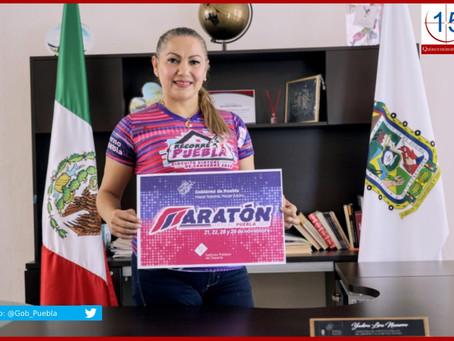 "Presenta Inpode ""Maratón Virtual Puebla 2020"""