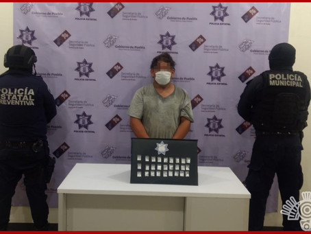 """Cae """"El Diablo Toma Todo"""" por venta de drogas y armas en Tehuacán"""