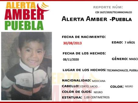 Activan Alerta Amber para localizar a menor de 7 años