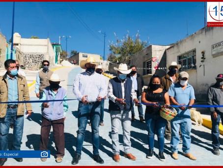 Inaugura Velázquez pavimentación y electrificación en dos comunidades atlixquenses