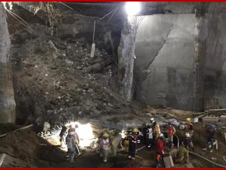 Derrumbe sepulta a tres obreros durante construcción en Texmelucan